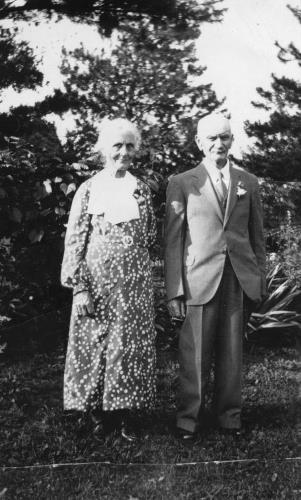 Emil and Angela (Pauly) Klein on their golden wedding anniversary  - 1934