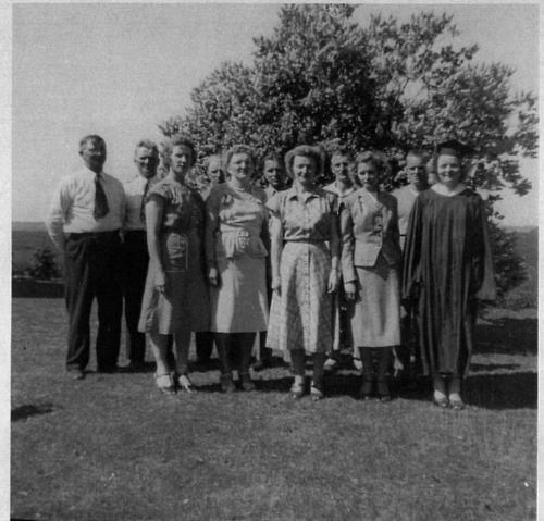 William Frank Kerber family on Julianne's graduation day - August 28, 1948