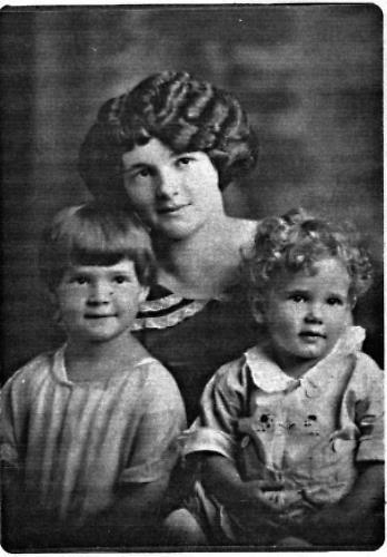 Loretta (Weller)  Kelm with daughter Mickey and son Doug Kelm - 1923