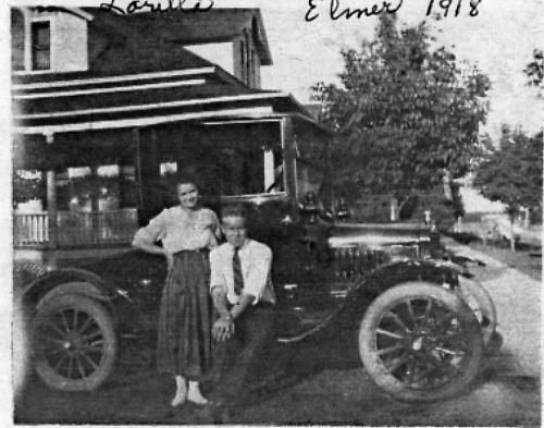 Elmer & Loretta (Weller) Kelm's first car - 1918