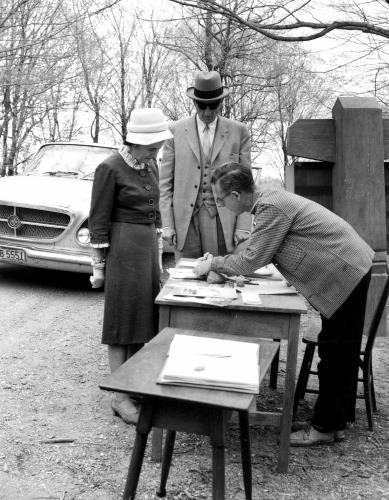 Membership drive at the Minnesota Landscape Arboretum - 1963?