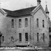 St. Hubert's School and convent. Circa 1910