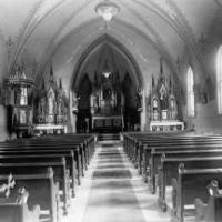 Inside view of St. Hubert's Church.  Circa 1900