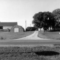 Harold and Leona Kerber's farm prior to 1964 fire.  Circa 1963