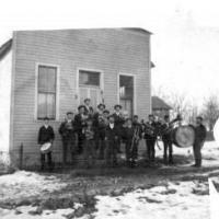 Chanhassen band in front of village hall - 1915