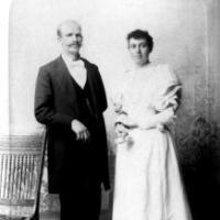 James F. and Nettie (Bennett) Harrison' wedding portrait - circa unknown