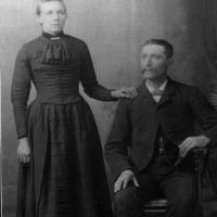 Alois & Elizabeth (Schutrop) Kerber's wedding portrait - March 2, 1886