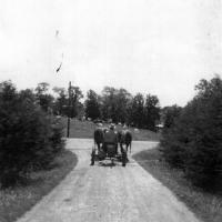 William Frank Kerber mowed road banks for Chanhassen Township - circa 1940