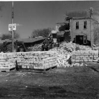 Demolition of old St. Hubert's School - April 10, 1974.