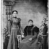 Charlotte (Miller) Geiser with daughter Rose - 1895
