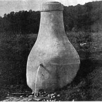 "Mudcura's ""Mammoth cement bottle"" for the spring - circa unknown"