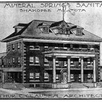 Architect's rendering of Shakopee Mineral Springs Sanatorium