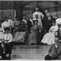 Mudcura patients relaxing on the grounds - circa unknown