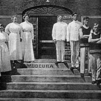 Staff of Mudcura postcard - circa unknown