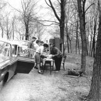 Membership drive at the Minnesota Landscape Arboretum - 1966?