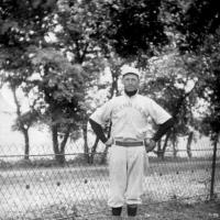 Emil Pauly wearing Glenn Lake baseball uniform - 1914