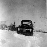 Blizzard of 1951 - Ruben Bongard's new Ford pick-up