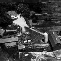 Aerial view of August Sinnen farm - 1946