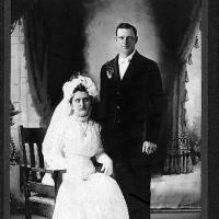 "John ""Jack"" and Elizabeth (Schlenk) Rettler's wedding photo - circa unknown"